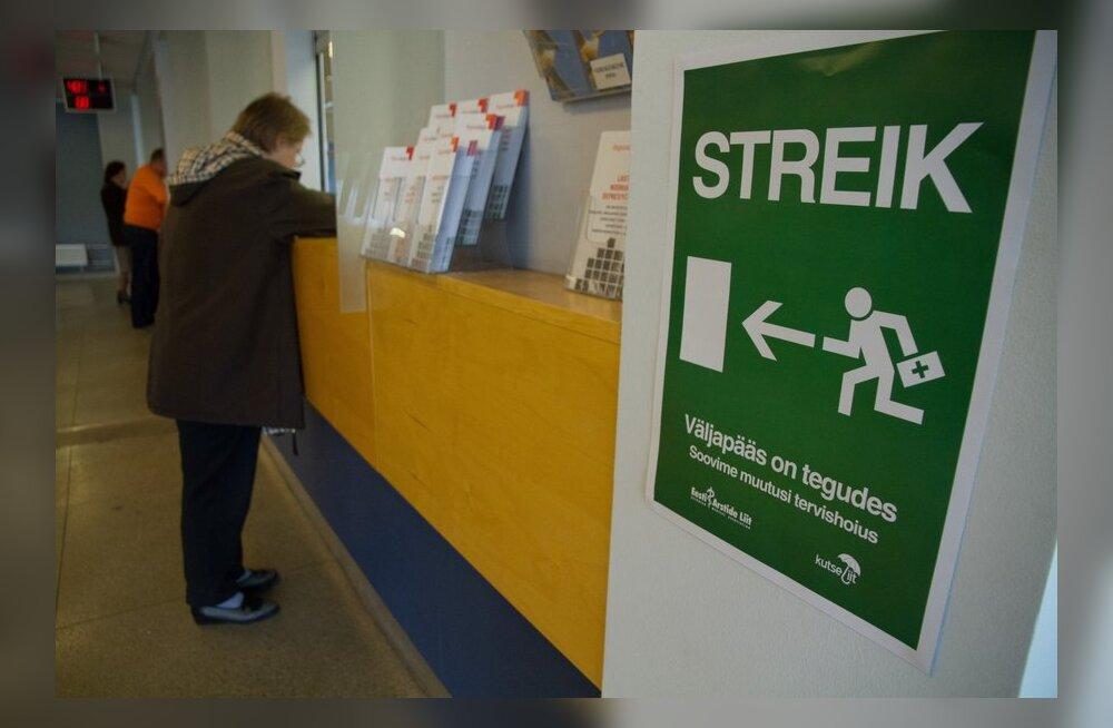 Streik jätkub: tervishoiutöötajad ei ole haiglate liidu pakkumisega nõus