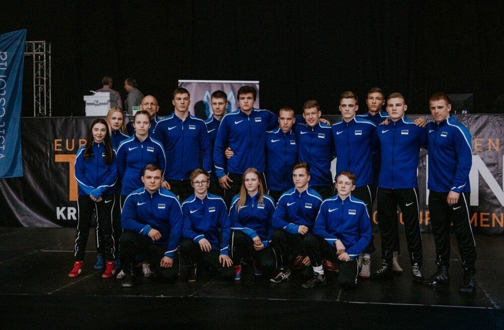 Tutvustati Eesti juunioride koondist maadluse maailmameistrivõistlusteksTutvustati Eesti juunioride koondist maadluse maailmameistrivõistlusteks.
