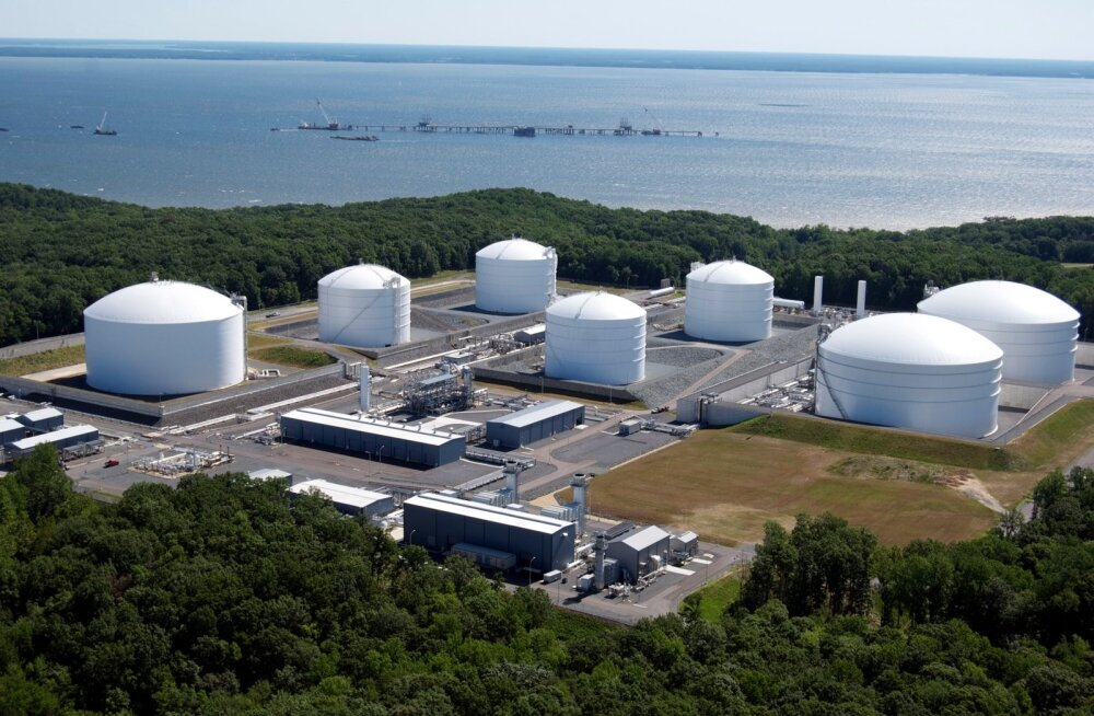 LNG terminal. Foto on illustratiivne