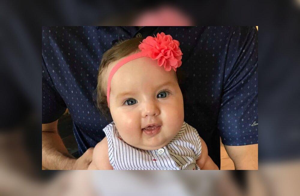 FOTO | Palju õnne! Väike Annabel sai 5 kuu vanuseks ja vanemad kinnitavad, et tüdrukul läheb väga hästi