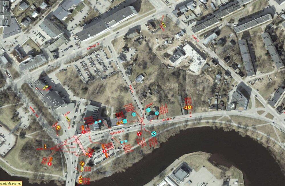 Tartus sulgeb jahutustorustiku ehitus homsest pääsu Narva maanteelt Fortuuna tänavale