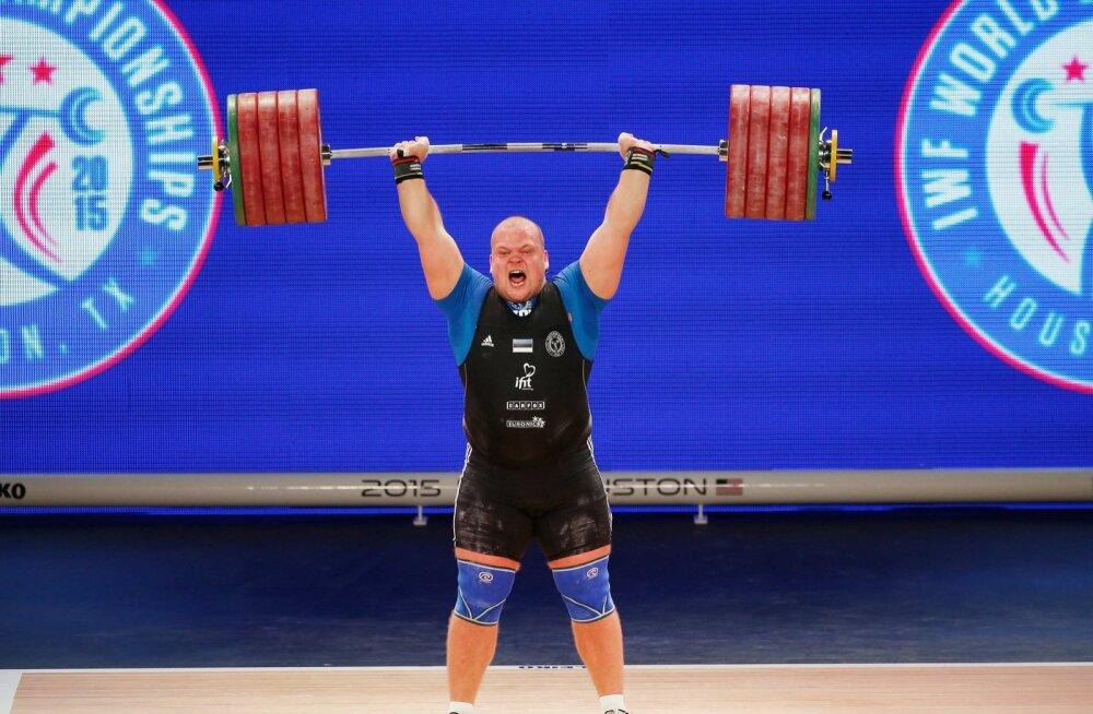 Võtmehetk: Mart Seim saab viimasel katsel jagu 248 kilost ja kerkib kaheksandalt kohalt kolmandaks.