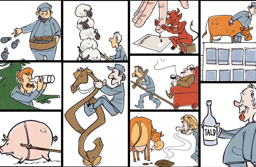 Külakurnaja, siganoom või protsessija? Eesti põllumehe illustreeritud välimääraja