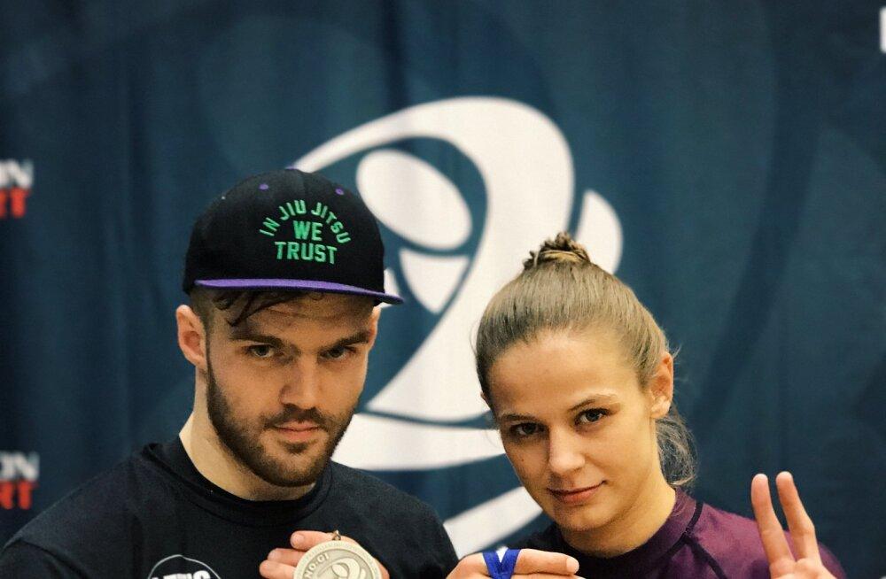 3D Treeningu medalistid Sten Maaslieb ja Liisi Vaht
