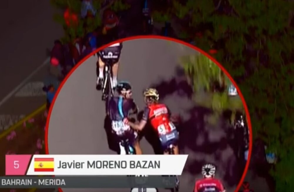 VIDEO: Nibali abimees pidi konkurendi tõukamise eest Itaalia velotuurilt lahkuma