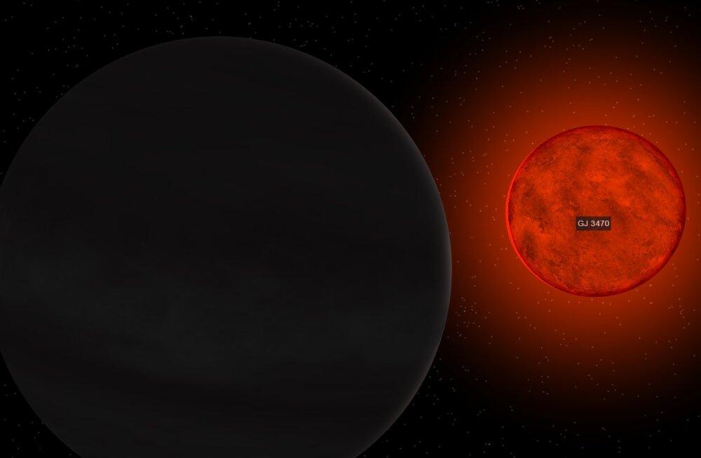Ülikiiresti aurustuv eksoplaneet aitab mõista eri tüüpi planeetide tekkelugusid