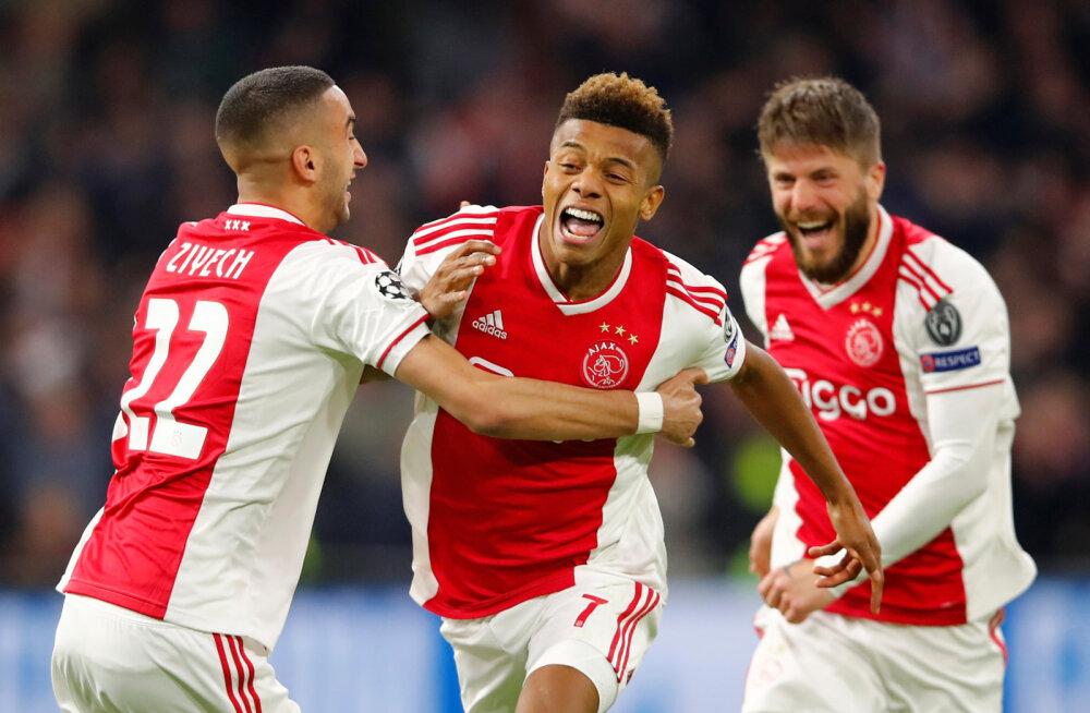 FOTOD | Ajax tegi kodus Juventusega 1:1 viigi, Barcelona võitis Manchester Unitedi omaväravast