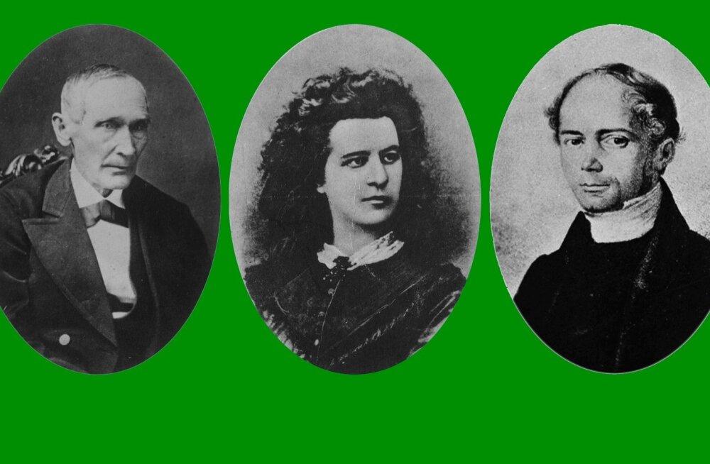 Kreutzwald, Koidula, Faehlmann.