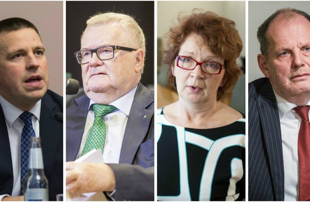 Jüri Ratas, Edgar Savisaar, Yana Toom ja Peeter Ernits