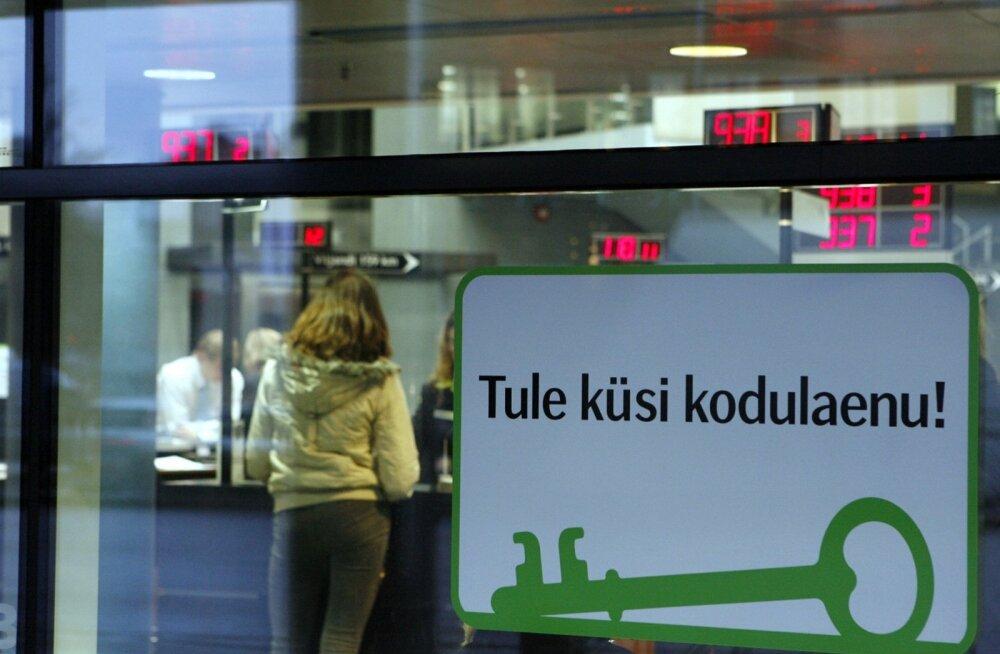 Kodulaenude portfell Eestis veidi kasvas.