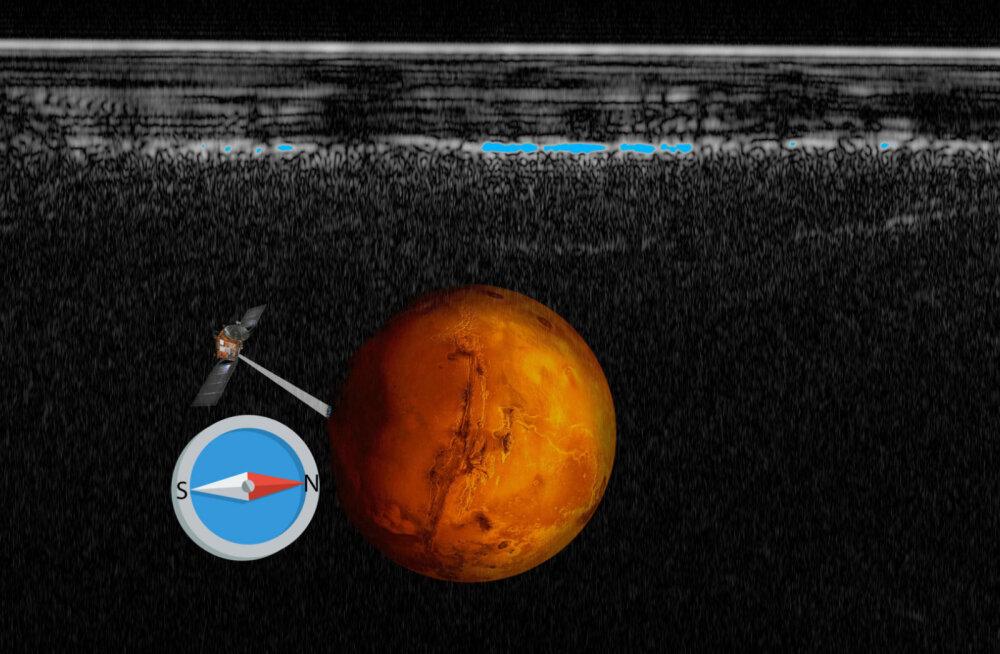 Punasel planeedil leidub vett! Marsi liustiku alt avastati esimene soolajärv