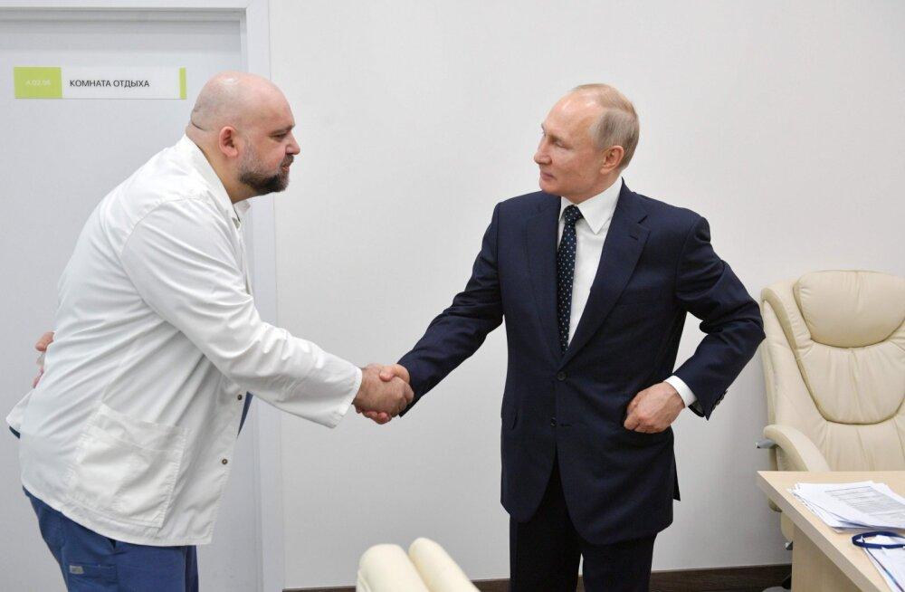 Nädala eest Putiniga kätelnud arst haigestus koroonaviirusse