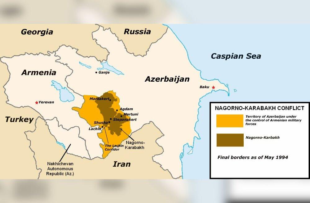Sajanditetagune pingekolle, mis viinud uue sõjani Armeenia ja Aserbaidžaani vahel