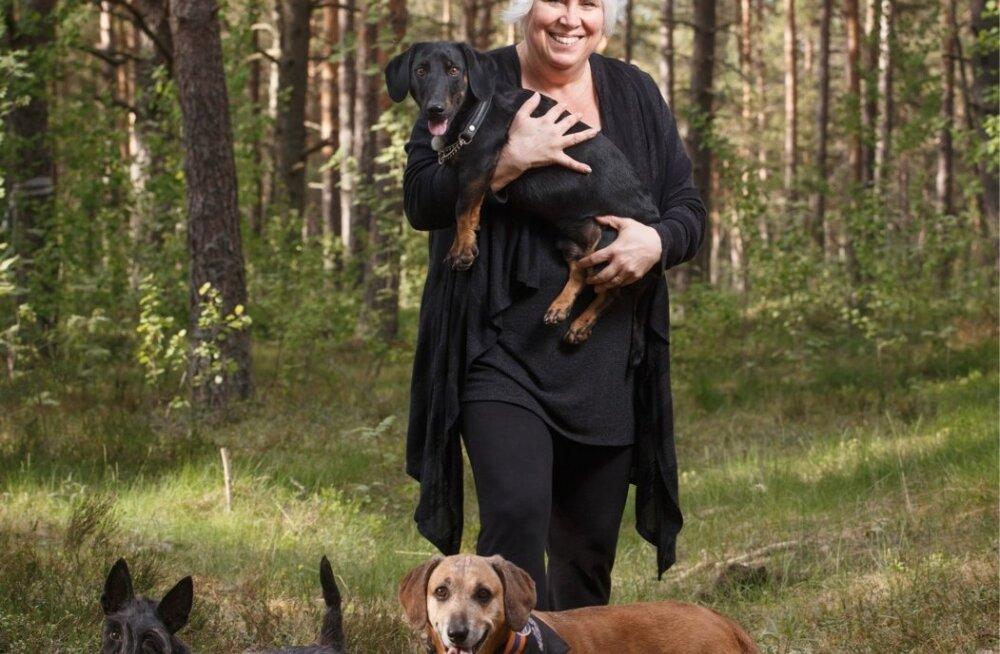 Marina Kaljurand koeraga