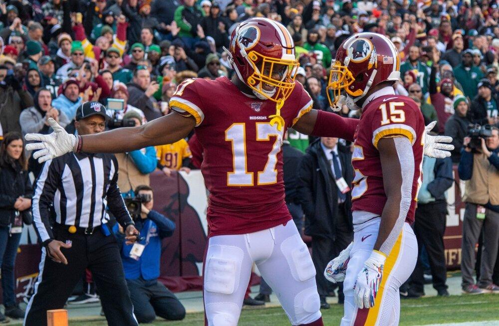 Sulgedega punanahk ei kaunista enam Washington Redskinsi kiivreid.