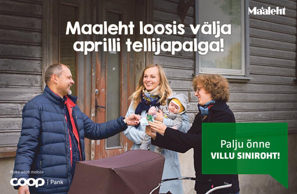 Maaleht loosis välja aprillikuu tellijapalga. Vaata, kes on õnnelik võitja!