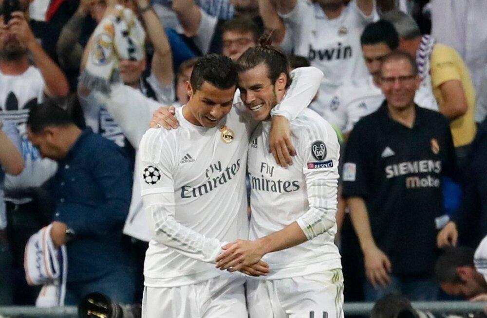 Vaevalt kaelustavad Cristiano Ronaldo (vasakul) ja Gareth Bale homme õhtul samamoodi nagu valges Reali särgis.