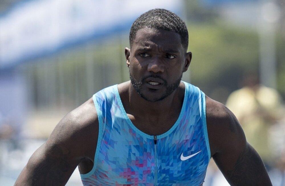 100m jooksu maailmameister Justin Gatlin