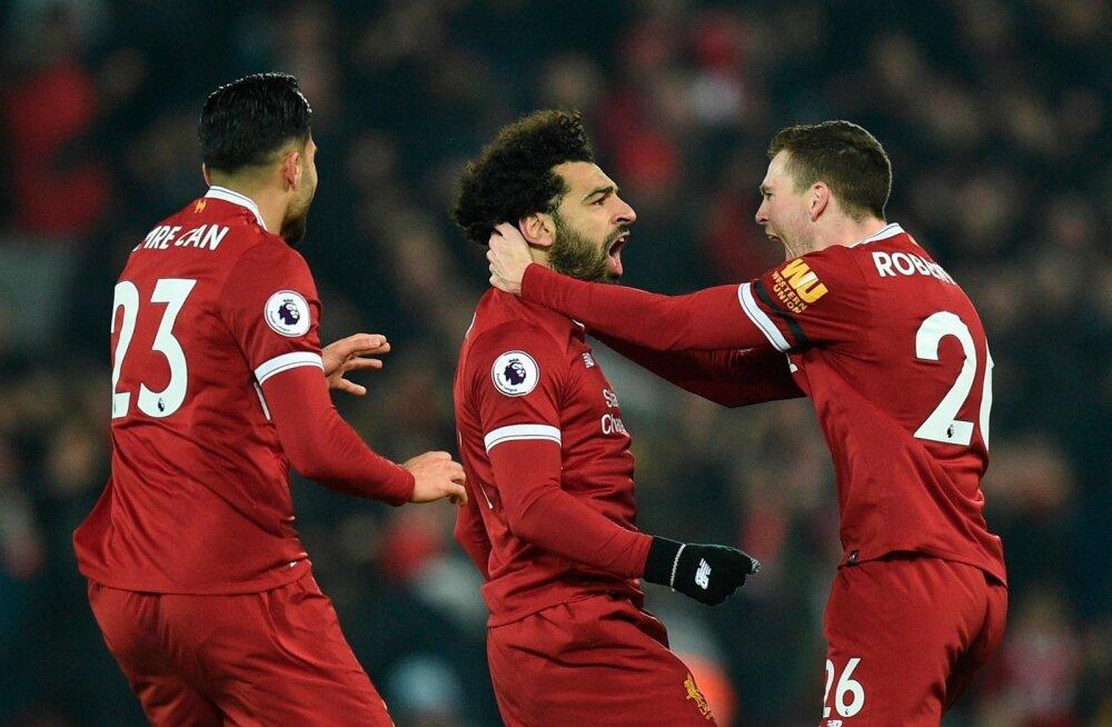 Mo Salah (keskel) on sel hooajal vastastele kõvasti tuska valmistanud. Jaanuaris lõi ta samuti värava, kui Premier League'is alistati Manchester City. Nüüd minnakse taas vastamisi.