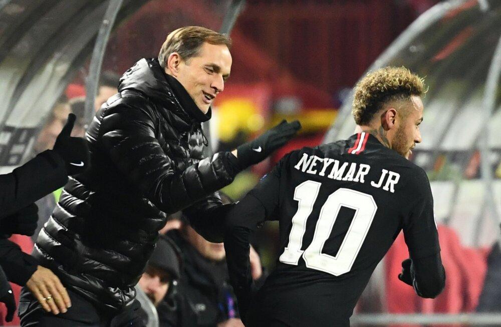 Thomas Tuchel ja Neymar