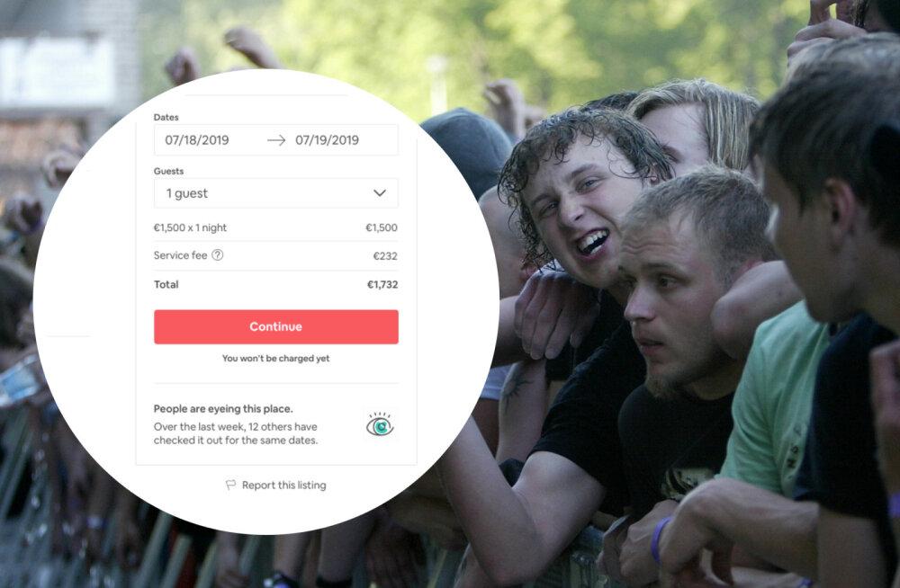 Röövimine või nutikas teenistus? Majaomanikud küsivad Tartus Metallica kontserdi ajal majutuse eest pea 1500 eurot