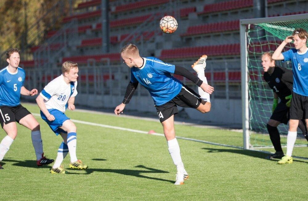 Eesti - Soome fännide jalgpallimäng Sportland Arenal