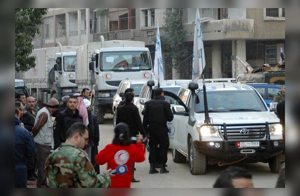 REUTERSI VIDEO: Süürias rünnati Homsi abikonvoid