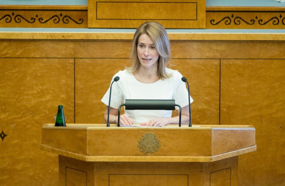 Kaja Kallas esitas riigikogule oma valitsemise alused