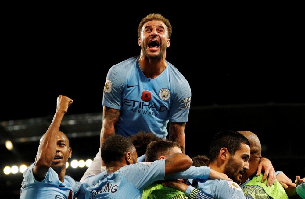 City alistas Manchesteri derbys Unitedi, Arsenal ja Chelsea kaotasid punkte