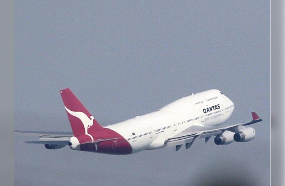 Qantase lennukeid tabasid välk ja lind