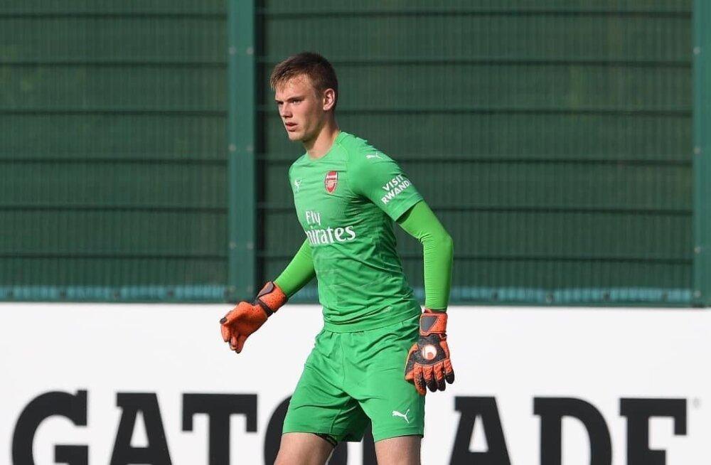 FOTO | Vägev värk! 16-aastane Eesti väravavaht tegi Arsenali esindusmeeskonnaga trenni