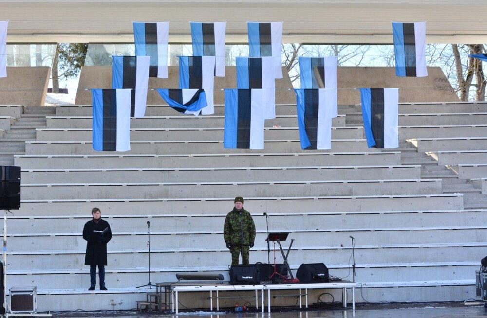 Eesti Vabariigi aastapäeva tähistamine Viljandis