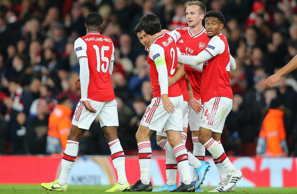 Euroopa liiga: Arsenal sai teise suure võidu järjest, Manchester United ei suutnud enamat viigist