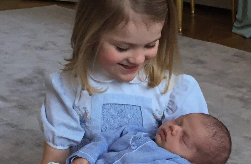 NUNNU KLÕPS! Rootsi kuningakoda avaldas kolmenädalasest pisiprintsist värske foto