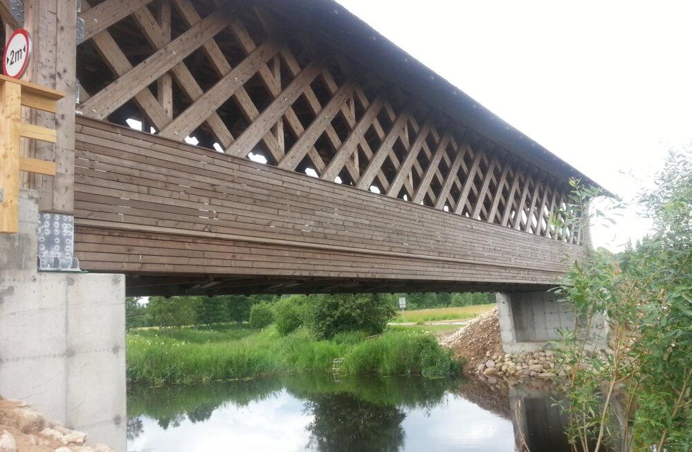 Первый в Эстонии крытый мост