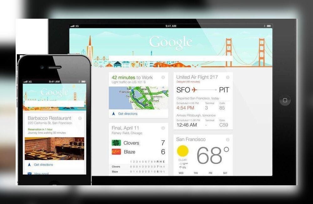 Siri, võta koomale – virtuaalabiline Google Now kolib ka Apple'i seadmetele