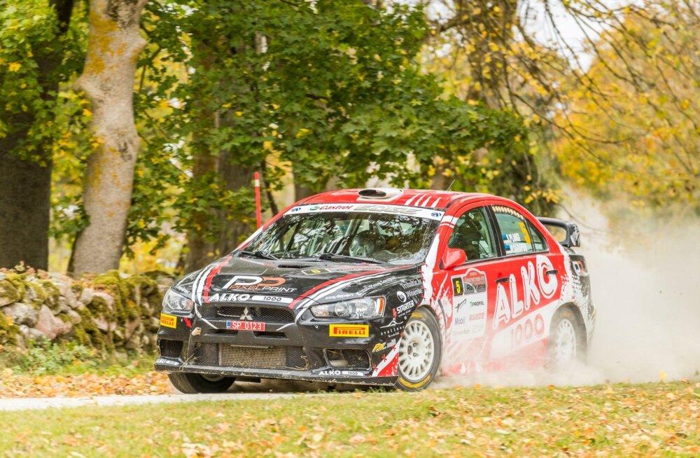 Saaremaa ralli võitja Siim Plangi sõiduvahend on Mitsubishi Lancer Evo X.