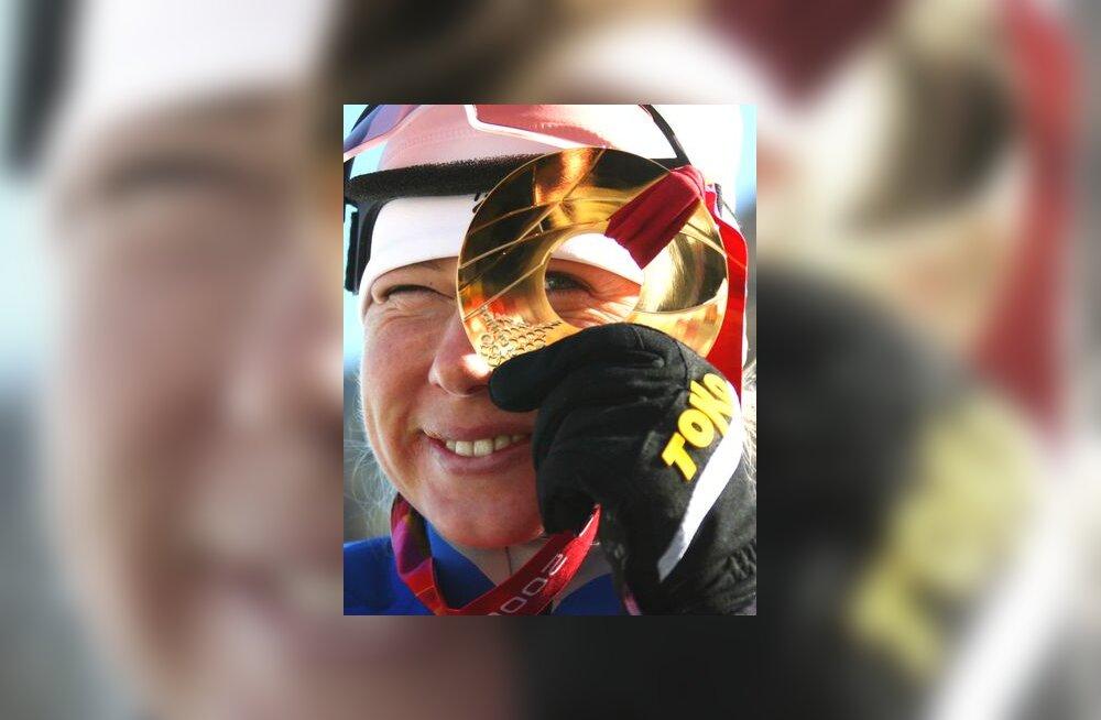 Olümpiavõitja Kristina Shmigun kuldmedaliga