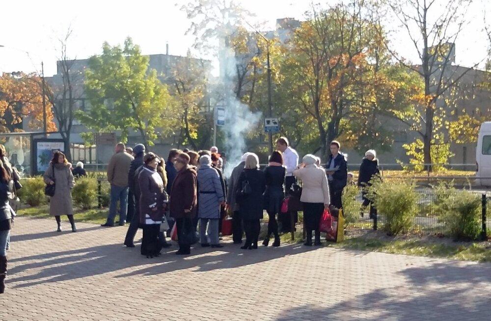 ФОТО читателя Delfi: На фестивале миноги в Нарве готовил шеф-повар президента