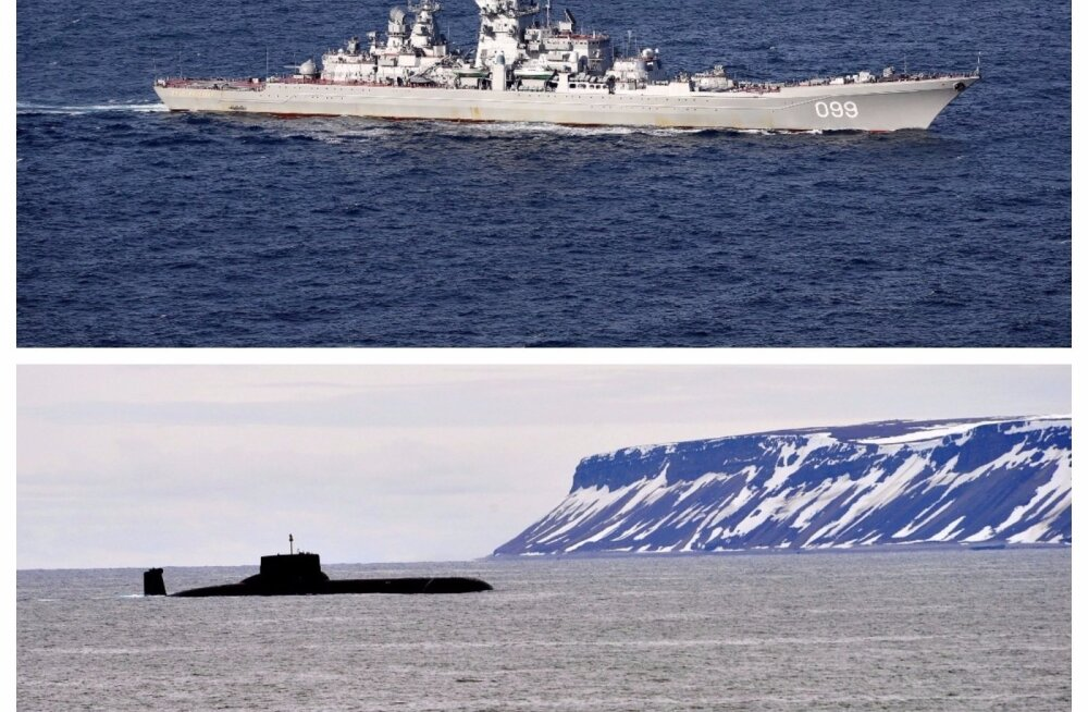 В Балтийское море прибудут ракетный крейсер и подводный ракетоносец РФ