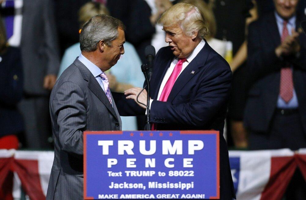 Trump tahtis Nigel Farage'i Briti suursaadikuks Washingtoni. London: töökoht pole vaba