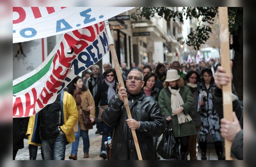 Kreekas toimub aasta esimene üldstreik kasinusmeetmete vastu