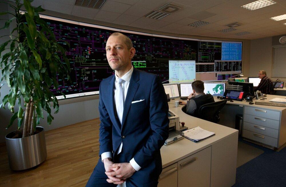 Taavi Veskimägi Eleringi elektrisüsteemi juhtimiskeskuses