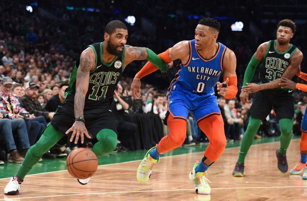 VIDEO | Irving ja Celtics alistasid põnevas vastasseisus Thunderi