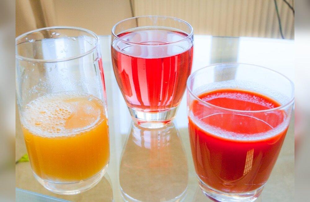 Kuidas teha vahet mahlal, nektaril ja mahlajoogil?