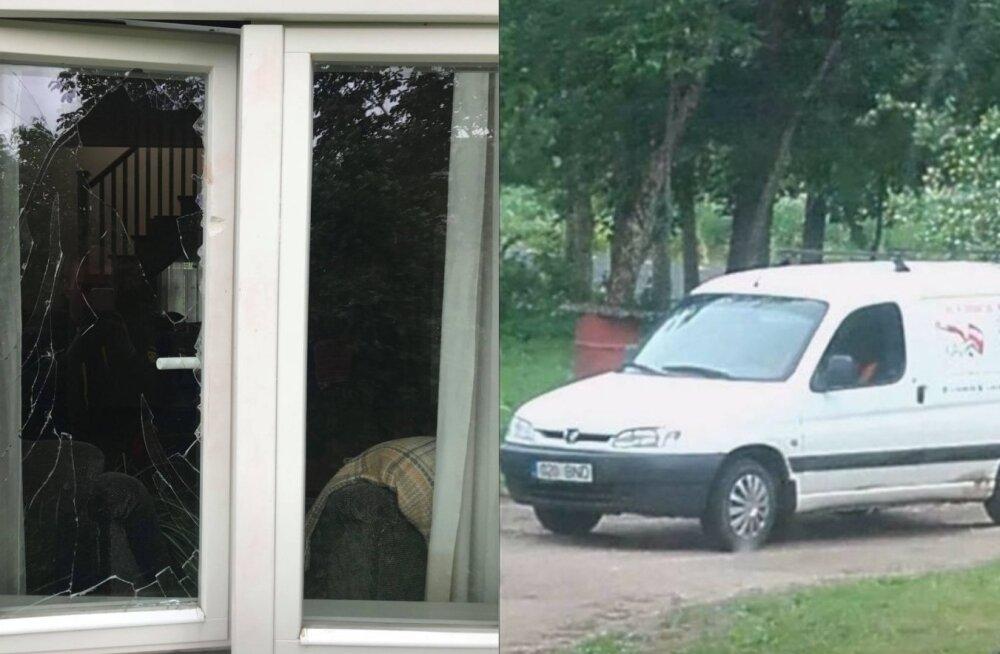 ФОТО: Взломы и подозрительное высматривание: жителей Южной Эстонии терроризирует неизвестный белый мини-фургон