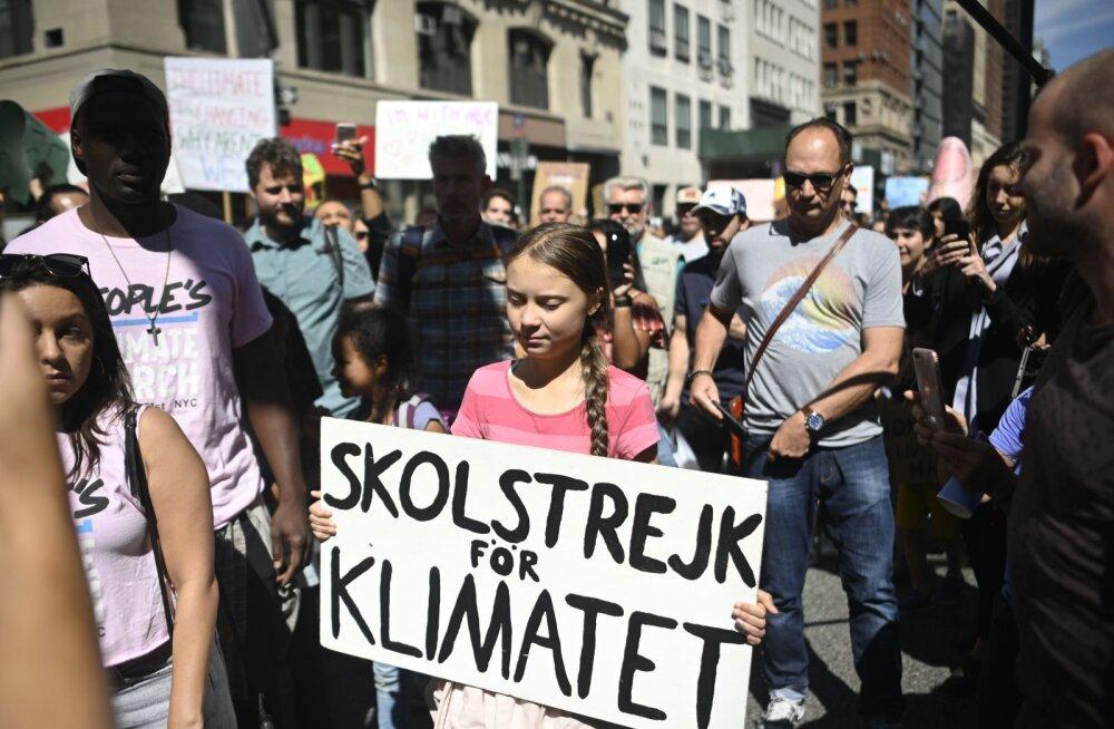 New Yorgi kliimamarssi juhib Greta Thunberg