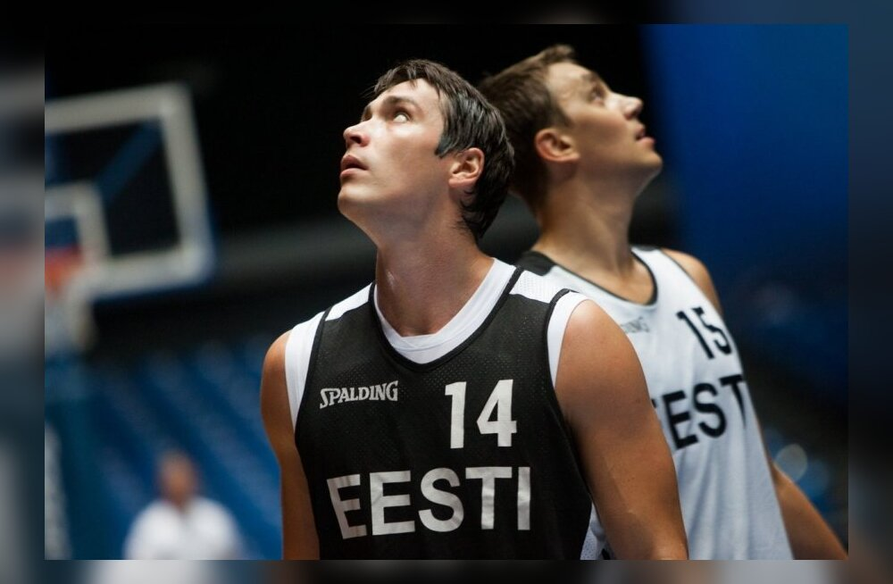 Kristjan Kangur korvpallikoondise trennis
