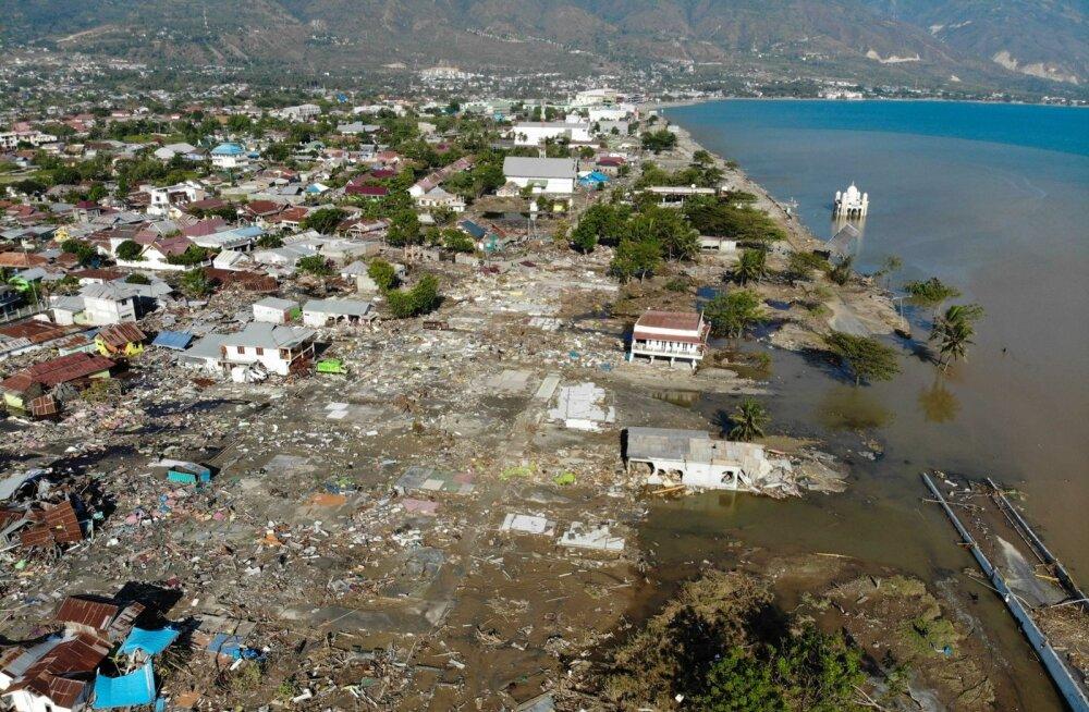 Indoneesia maavärina kinnitatud ohvrite arv jõudis 844-ni