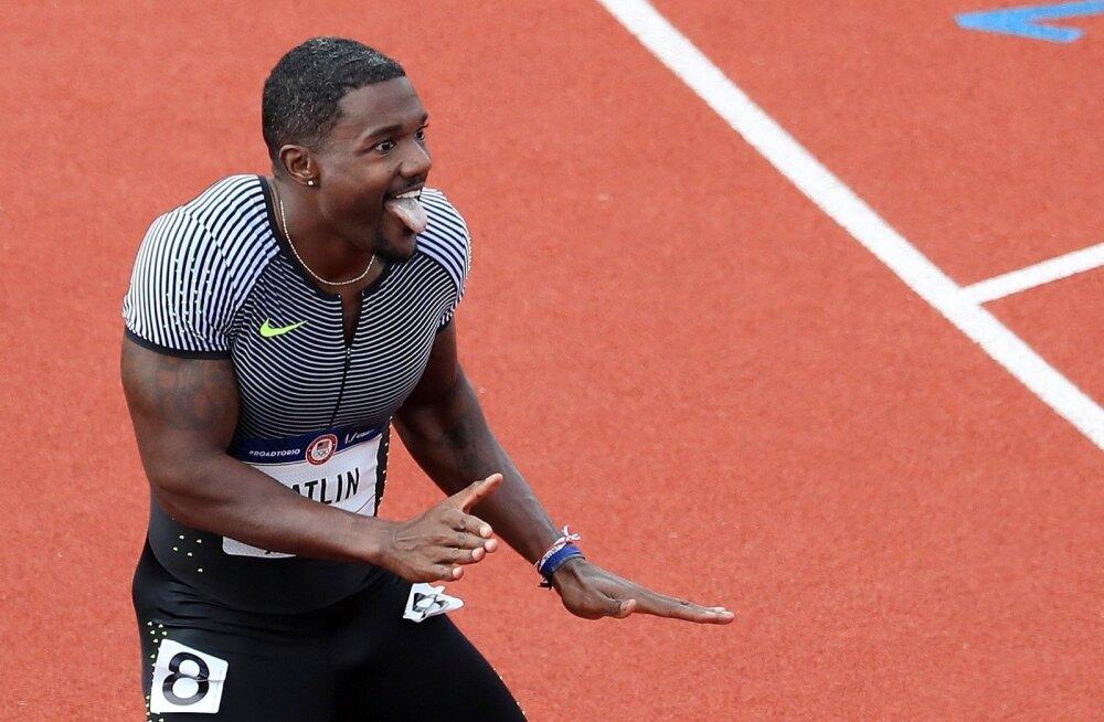 USA sprinter Justin Gatlin